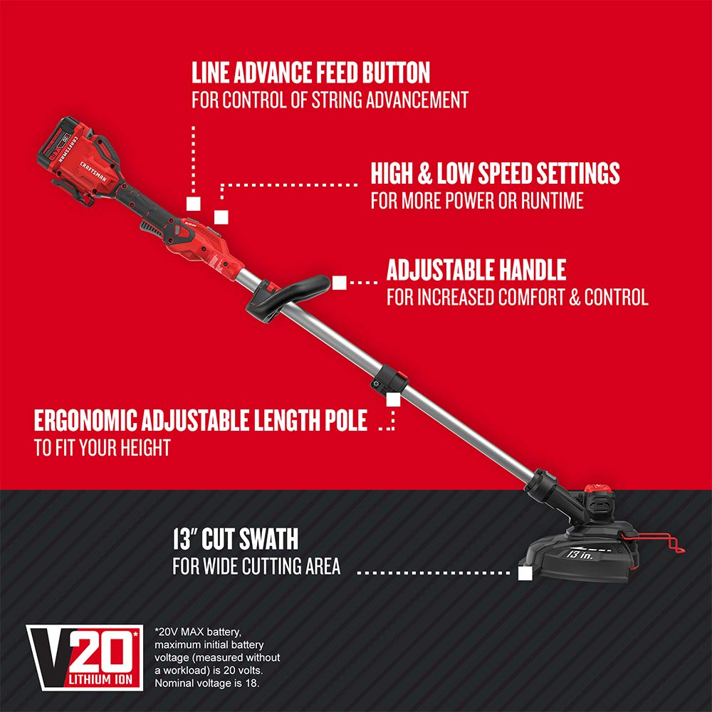 CRAFTSMAN V20 String Trimmer : Edger (CMCST910M1) review